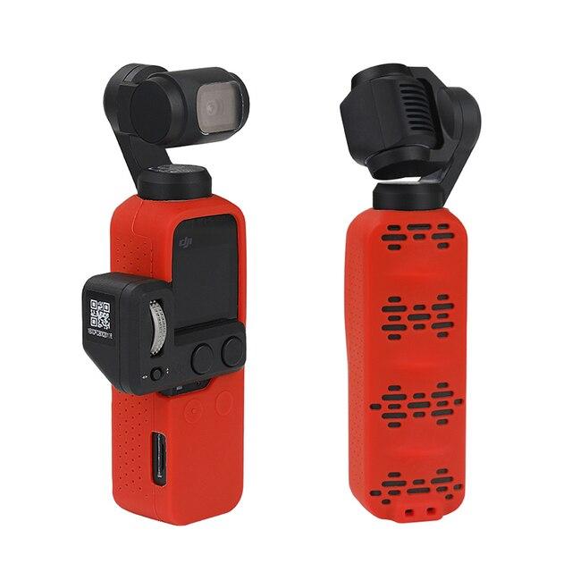 Handheld cardan câmera caso capa Protetora de Silicone com Alça de Pulso para dji osmo Bolso acessórios da câmera
