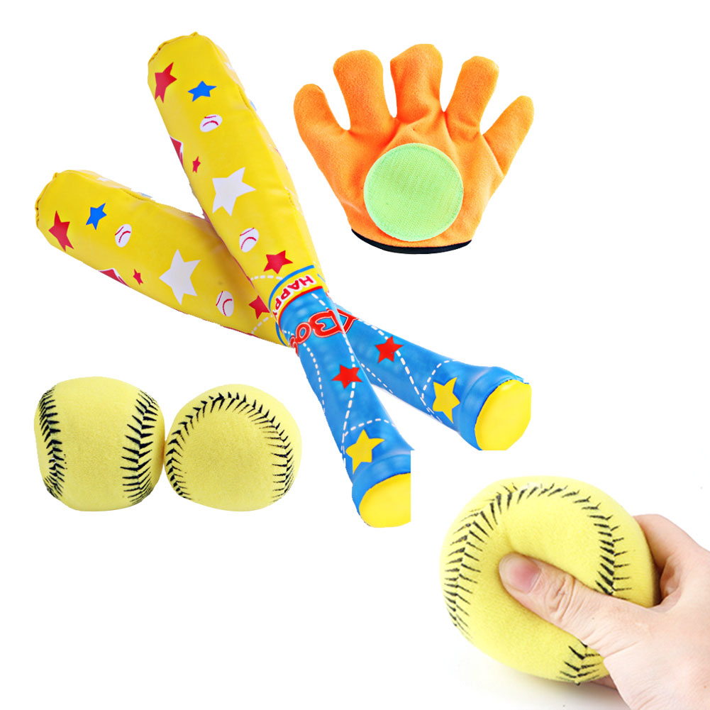 1PC Kids Beach Toy Set Baseball Bat Outdoor Sports Team Work Toy Baseball Set Best Interactive Game For Kids And Adults