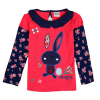 novatx F6569 retail baby girl clothes baby kids girl long sleeves t shirt hot sale 2017 new arrival children kids casual wear
