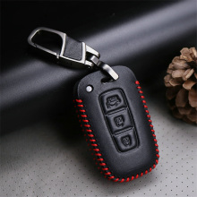 цена на Car Key Case Cover For KIA Rio 3 4 Ceed Cerato Sportage Soul Picanto Cerato K3 Optima K5 K2 Carens Leather Key Ring Case Styling