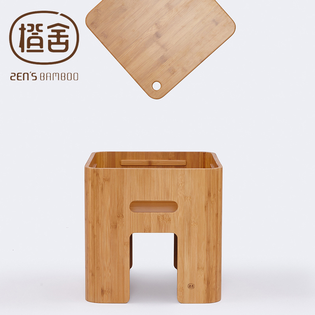 ZEN'S BAMBOO Stool Storage Tatami Table Simple Design Coffee Table Chinese Tea Table Home Funiture