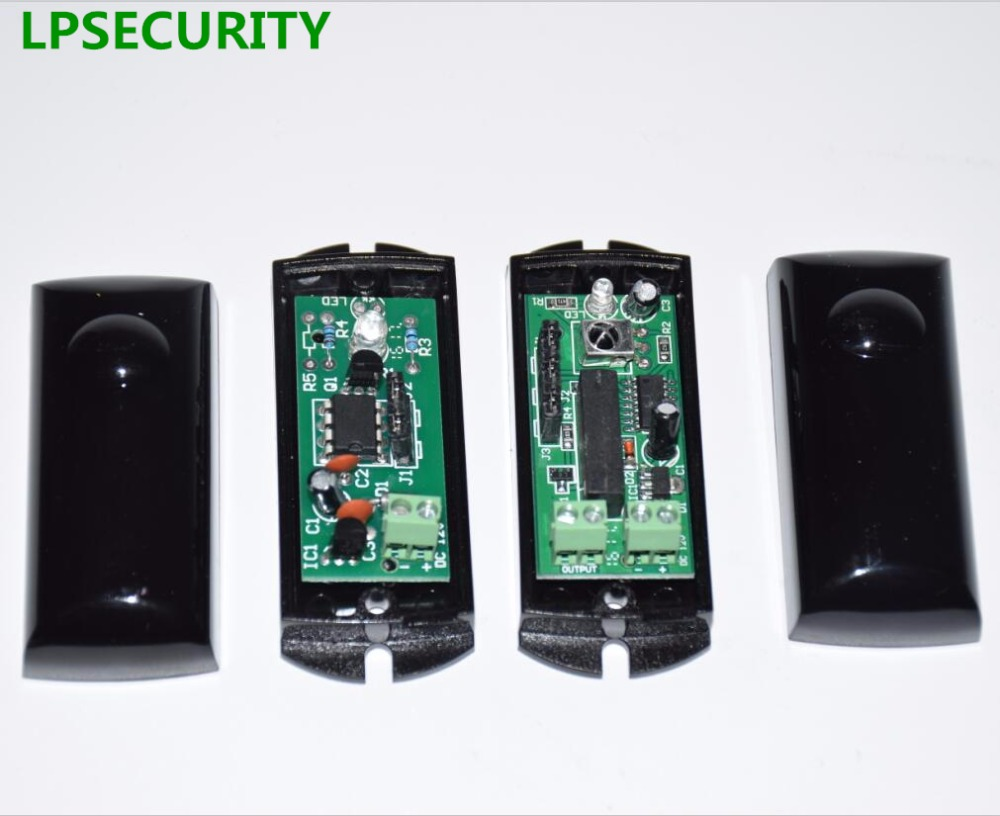 LPSECURITY IP55 Multi-Frequency 15m Barrier Gate, Gate Opener Beam Sensor, Safety Beam, Photo Sensor, IR Beam Detector