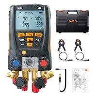 Testo 557 Refrigeration Pressure Gauge Manifold Digital Kit Testo Manometer with Clamp Probes External Vacuum Gauge Bluetooth