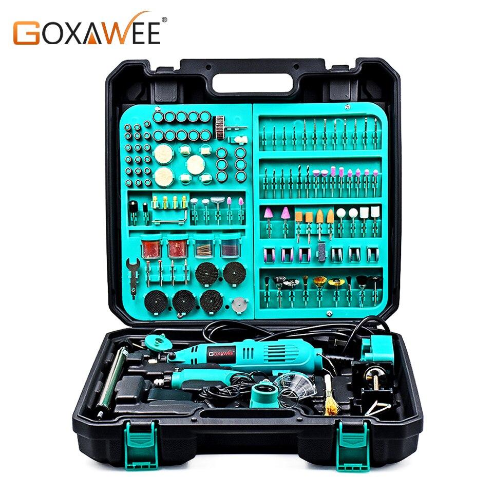 GOXAWEE perceuse électrique Dremel stylo de gravure outil rotatif vitesse Variable Mini perceuse rectifieuse avec accessoires outils électriques