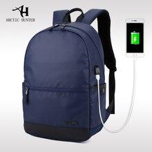 ARCTIC HUNTER 2017 Laptop Rucksack Externe USB Lade Computer Rucksäcke Wasserdichte Taschen für Männer Frauen Anti-theft wiederaufladbare