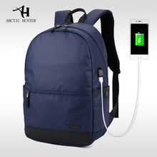 ARCTIC HUNTER 2017 Laptop Backpack External USB Charge Computer Backpacks Waterproof Bags for Men Women Anti-theft rechargeable