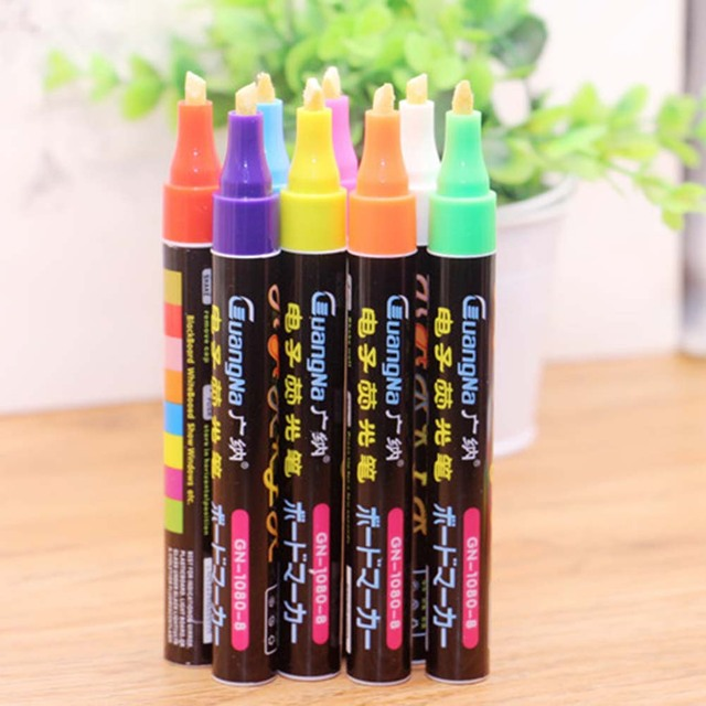 Stylish Style Casual Trendy Chic Marker Pen Vintage Highlighter 6mm Board  Pen Best Fluorescent 8pcs/