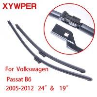 XYWPER Lames D'essuie-Glace pour Volkswagen Passat B6 2005 2006 2007 2008-2012 24