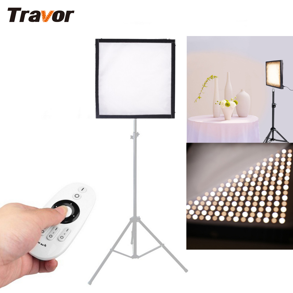 Vychutnejte si nové Bi-Color FL-3030A Flexibilní LED video světlo 256pcs LED CRI95 3200K 5500K 2,4G Remote Contol pro fotografování
