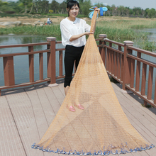 Dia 2.4-7.2m Fishing Net American 3m Fishing Net Iron Pendant Network Cast 3.6m Net Hand Throw 4.2m Network Fishing