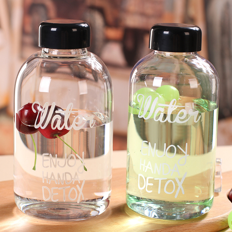 1000ml 600ml my lemon water bottle plastic bottles lovely bootle Transparent botle Portable botella de agua sport drink garrafas ...