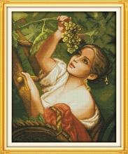 Набор для вышивки крестиком plucking «Виноградная девушка»
