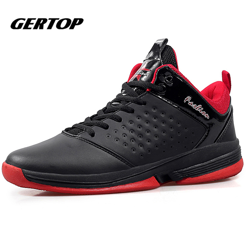 Mens Basketball Shoes Zapatillas High-Top Rubber Sneakers
