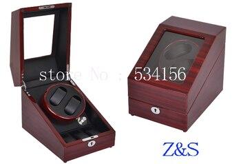 Watch Winder in Black luxury wooden Box