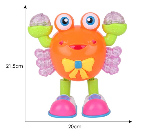 The New Dance Crabs Cartoon Universal Wheel Light Music Dance Can Crawl Electric Toy Robot