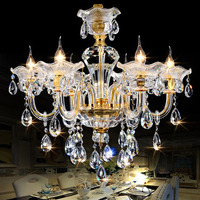 Free Shipping 6Lights 8 Lights Cristal Clear Chandelier Crystal For Room Decoration Hotel Chandelier