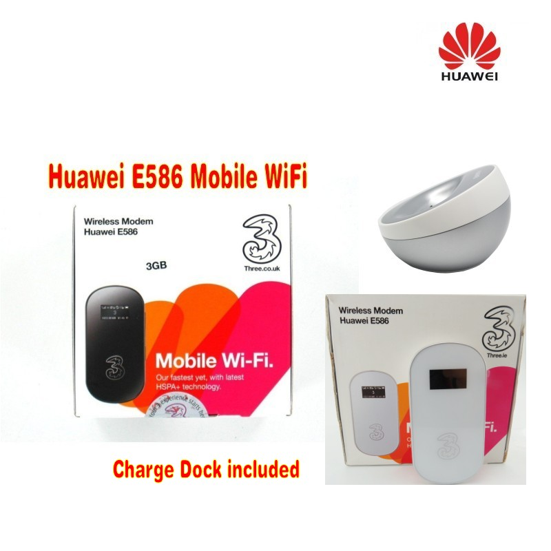 Unlocked Huawei E586 3G GSM Triband Broadband Mobile Hotspot Router plus with dock station