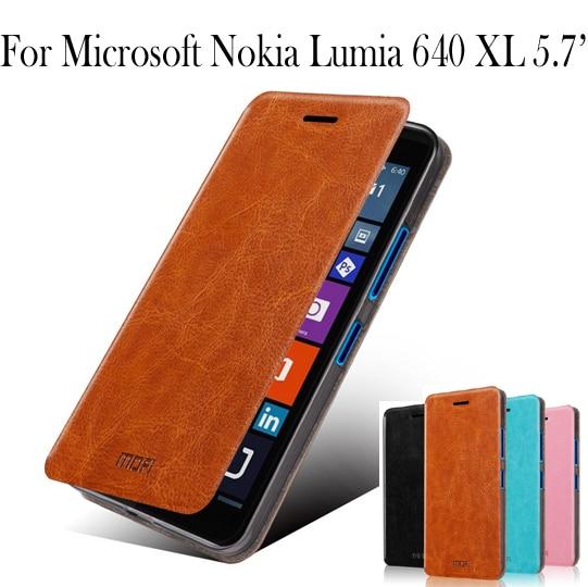free shipping 8add4 8e896 US $8.1 10% OFF|Mofi For Microsoft Lumia 640 XL leather case For Nokia  Lumia 640XL flip case For Nokia Lumia 640XL with Stand Case Cover-in Flip  Cases ...