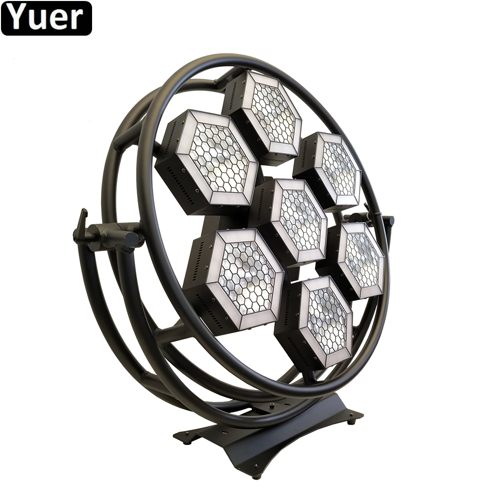 7 Halo Hexa LED SMD RGB 3in1 Pixel Blight COB Flood Light TV Studio Station Dj Disco Stage Back Ground Light Sound Party Lights