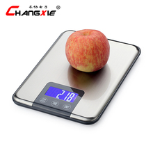 LCD Display Household Digital Kitchen Scale Weight Up To 5kg 1g High Precision Stainless Steel Electronic