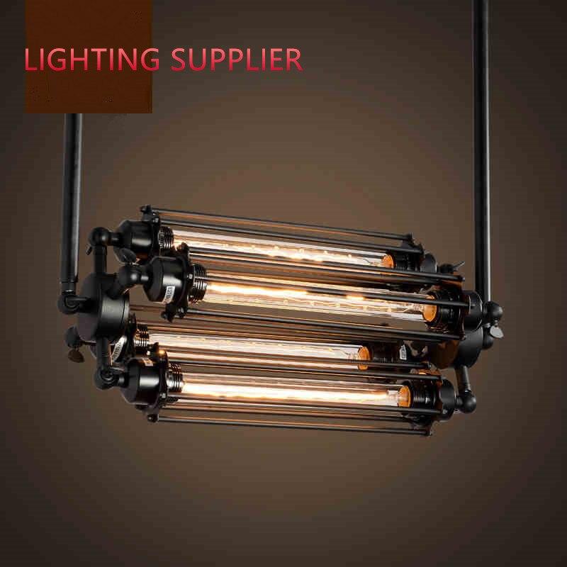 Loft fer pendentif lumière 4 edison ampoules. discothèque industrielle Steampunk métal punk lampe. Vintage rétro déco Luminaire