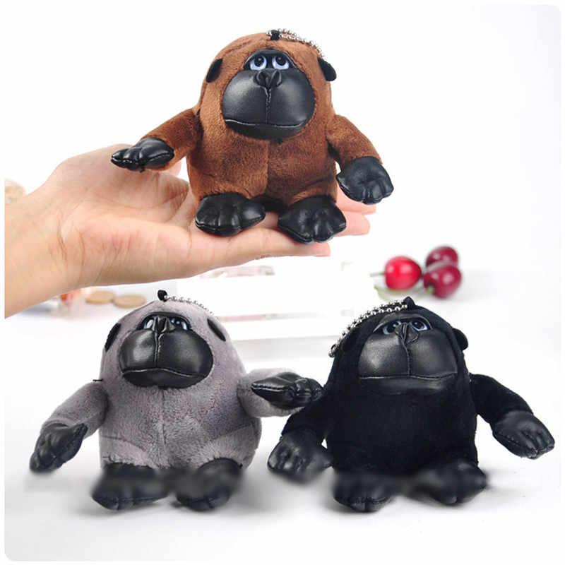 2017 nova bugiganga chaveiro coelho chaveiros em saco encantos Chaveiro macaco pele pom pom para sacos de anime