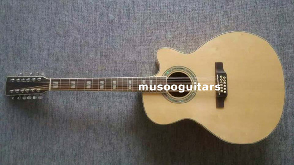 new brand 12 string acoustic guitar in guitar from sports entertainment on. Black Bedroom Furniture Sets. Home Design Ideas