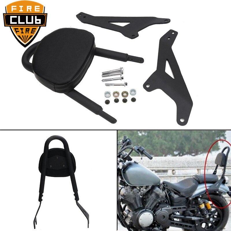 For Yamaha Star Bolt XVS950 2014-17 16 15 Motorcycle Black Rear Passenger Backrest Sissy Bar Luggage Rack