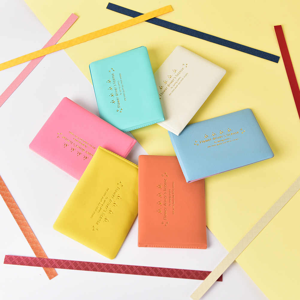 1PC Candy Color PU Leather Purse Wallet Case Auto Driver License Bag on Cover for Car Driving Documents Card Holder