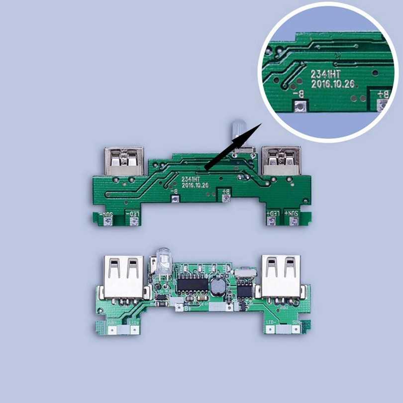 5x18650 قوة البنك صندوق الطاقة الشمسية لتقوم بها بنفسك حافظة مزدوجة USB عدة مصباح يدوي Powerbank المحمولة Pover الهاتف شاحن سامسونج قوة البنك