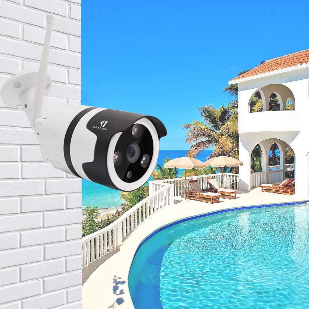 Pripaso مراقبة كاميرا wifi ip اللاسلكي 2 حزمة داخلي في الهواء الطلق كاميرا مصغرة P2P ONVIF IR للرؤية الليلية دعم 64G بطاقة