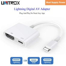For Lightning to Digital AV HDMI 4K USB Cable Connector 1080P HD Adapters For iPad to HDMI Adapter For Iphone X 8/7/6/Ipad Air
