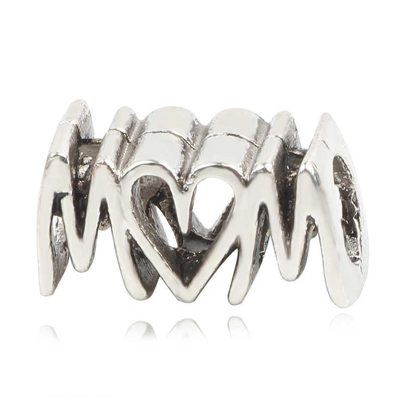 AIFEILI nuevo encanto joyería Europea 2019 plata DIY ajuste Pandora mamá cuenta regalo Retro pulsera personalidad regalo amor