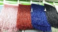 Yy039 #5 ярдов/сумка розовый/Красный/Королевский синий/см черный 30 см ширина бусины Ленты бахрома для свадебное платье/одежда/декоративные