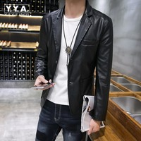 2017 Top Fashion Mens Slim Fit Faux Leather Jackets Spring Autumn Motorcycle PU Leather Coat High