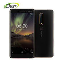 2018 Nokia 6 2nd TA-1054 אנדרואיד Smartphone 5.5 אינץ Snapdragon 630 אוקטה core 16.0MP 3000 mAh 4 GB 64 GB 4G LTE טלפון נייד(China)