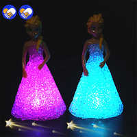 A toy A dream Anna Elsa Toys Doll Ice Snow Queen 7 LED Color Baby Doll Toys For Girls Baby Doll Toys For Girls children