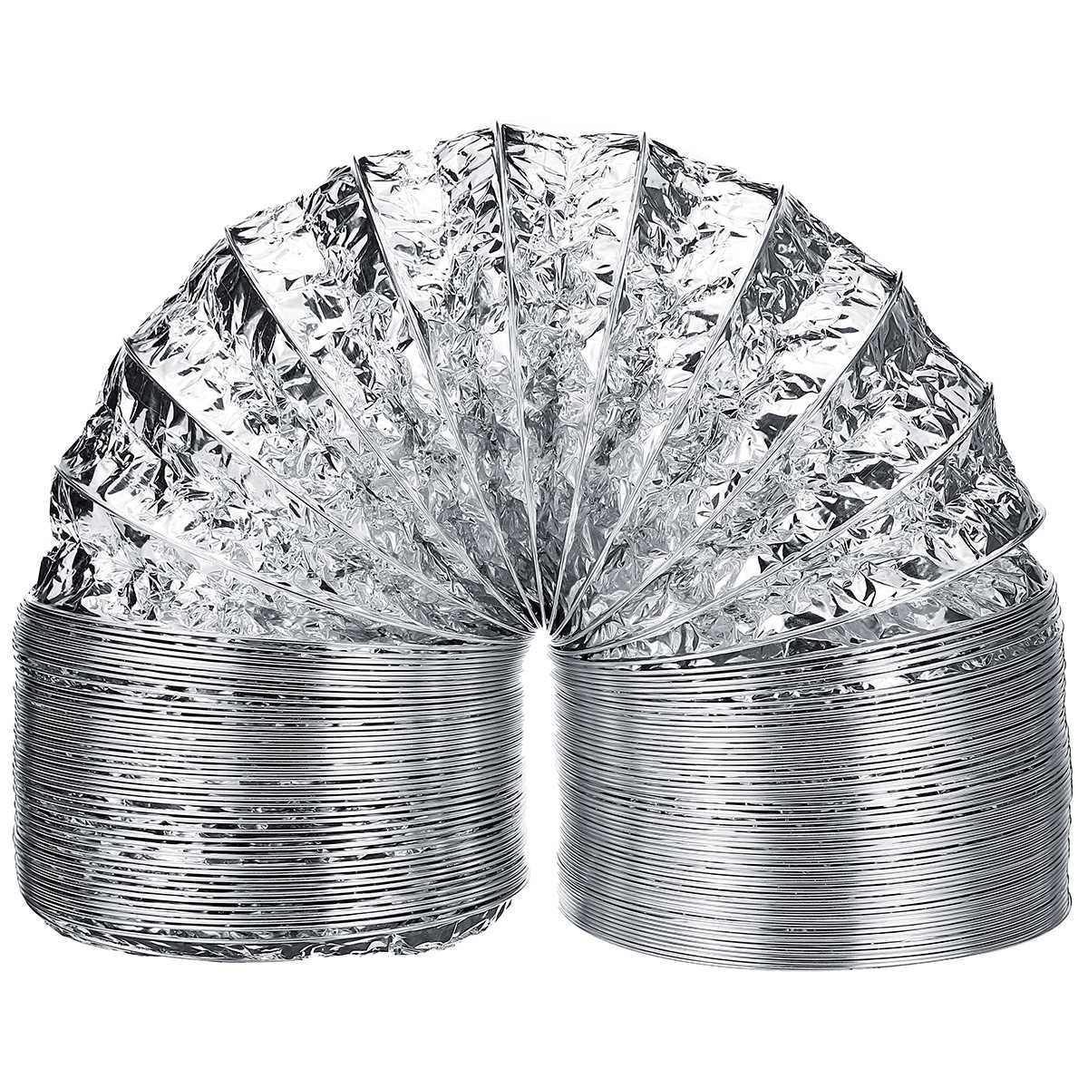3/2 Meter Lengte 4 inch 100mm Aluminium Buis Ventilatie Slang Uitlaatpijp Duct Flexibele Buis voor Air Systeem Vent thuis Badkamer