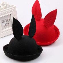 Корейской Зимой Шляпу Крышка девушки дети прилив шерсть кроличьи уши Шляпу прекрасные моды дети девочка мальчик Шапочка Hat Skullies Шапочки