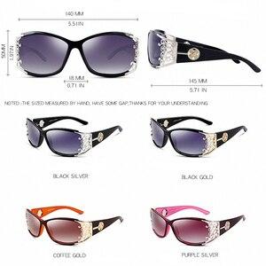 Image 3 - PARZIN gafas de sol polarizadas para mujer, anteojos de sol femeninos de lujo, estilo Vintage, color negro, con embalaje PZ18