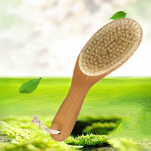 Natural Bristle Body Soft Massage Brush With A Long Handle Massager For