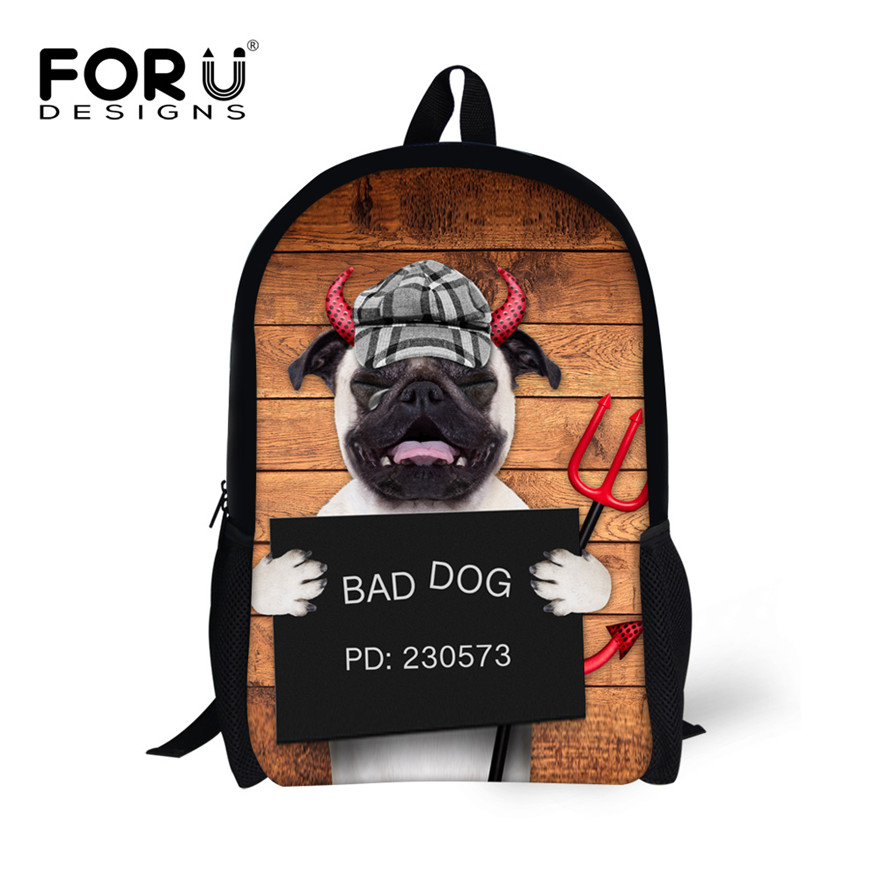 f050bf9b64 FORUDESIGNS 16 inch Children Backpack 3D Animal Dog Print School Bag for  Teenage Boy Girls Travel Back Pack Mochila Escolar
