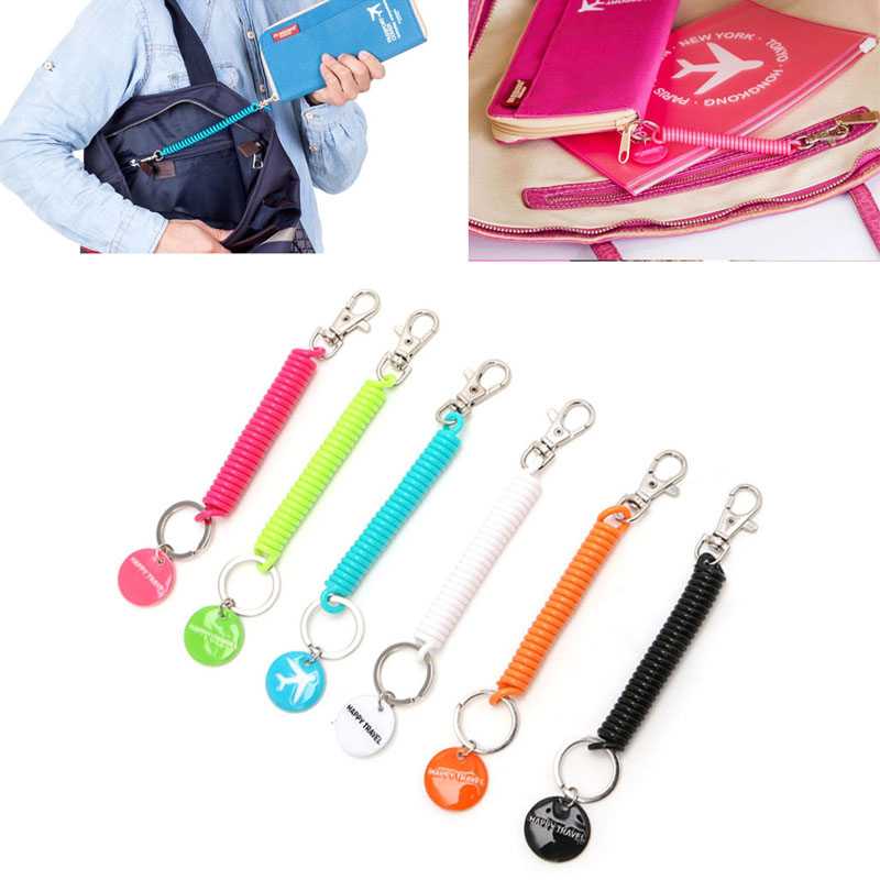 THINKTHENDO Hot Anti-lost Strap For Key Chain Phone Passport Pouch Wallet Purse Travel Accessory