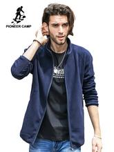 Пионерский лагерь на молнии мужские толстовки куртка брендовая одежда Повседневная теплая флисовая толстовка мужской качество темно синие серый