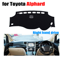 Car dashboard cover mat for TOYOTA ALPHARD all the years Right hand drive dashmat pad dash mat covers dashboard accessories