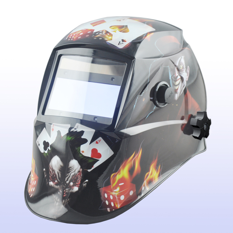 Auto darkening welding helmet/welding mask/MIG MAG TIG(Yoga-616G)FIRE Flame/4 arc sensor auto darkening welding helmet welding mask mig mag tig yoga 718g fire girl 4 arc sensor replaceable li batteries