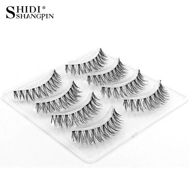 92da0e18d70 4 Pairs False Eyelashes Soft Eyelash Natural Fake Eye Lashes Makeup Wispy  Lashes Free Shipping Lashes