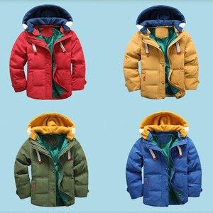 Image 2 - HH Capretti del rivestimento dei ragazzi Con Cappuccio di Inverno del bambino ragazza autunno del rivestimento del bambino del cappotto dei bambini snowsuit Giacca di Velluto Outwear 3 4 5 8 10 anni