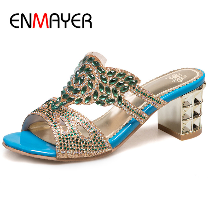 ФОТО ENMAYER Anke Wrap Summer Sandals Shoes Woman High Heels Open Toe Plus Size 33-46 Chaussure Femme Women Sandals Summer