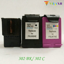 For HP 302 Ink Cartridge for HP 302 xl Deskjet 2130 1110 1111 1112 2131 2132 3630 Officejet 4650 ENVY 4520 Printer 6pk for hp envy 4520 officejet 4650 inkjet printer for hp 63 63xl ink cartridge free shipping hot sale